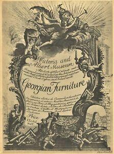 Antique Georgian Furniture 1720-1820  Types Descriptions Dates / Illust. Book