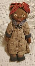Antique Folk Art Black Americana Hand Made Doll- Fantastic