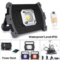 20W LED COB Emergency Work Light USB Rechargeable 2400LM Outdoor Floodlight Lamp