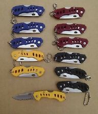 Wholesale Lot 12 Folding Blade Keychain Knife Knives Mini Lockback Pocket