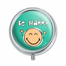 Be Happy Smiley Face with Stars Officially Licensed Pill Case Trinket Gift Box