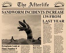Beetlejuice Newspaper Prop Tim Burton Ghost with the Most Betelgeuse
