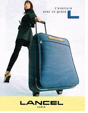 PUBLICITE ADVERTISING 094  1997  LANCEL  bagages valises de luxe