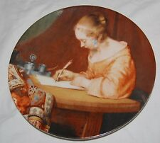 Vintage Rijksmuseum Amsterdam Fine China Plate Lady Writing Letter Terborch 70s