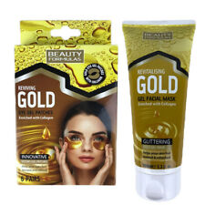 Gold Eye Gel Patches + Gold Gel Face Mask With Collagen Duo Pack