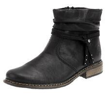Rieker Damen Stiefeletten Boots Kurzschaft Stiefel Booty Schuhe Schwarz Gr. 37