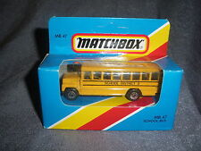 288B Vintage Matchbox 1981 MB 47 Bus School Bus School District 2 USA 1:76