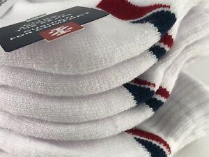 Men's IZOD Brand White SPORT Quarter Crew Socks - 7 Pack - $36 MSRP 🥎