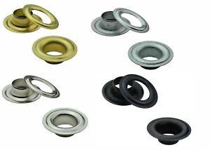 Ösen in DIN 7332, Ø 10mm bis 16mm, Messing, Stahl oder Edelstahl, Planen, Banner