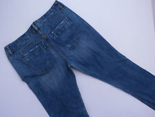 *E-110 LADIES MOSSIMO DISTRESSED CURVY FIT BOOTCUT STRETCH DENIM JEANS SZE 12 R