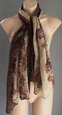 """Pre-owned Multi Colour """"Carriage"""" Print Scarf/Wrap/Shawl"""