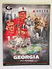 2014 Georgia Bulldogs v Tennessee Volunteers FOOTBALL Game Program, Dooley cover