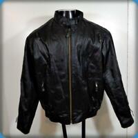 Pebbled Leather Cafe Racer Biker MOTORCYCLE JACKET Mens Size L 42