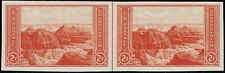 #757 HORIZONTAL PAIR/VERTICAL LINE 1935 2c PARKS FARLEY ISSUE MINT-NH/NGAI