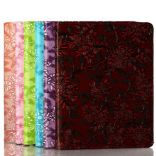 360 Folio Leather Embossed Leaf Case Cover Stand For Mini 2, iPad 2 3 4, Air 1 2