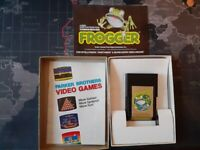 Frogger Parker Brothers Mattel Intellivision  CIB, Manual and Advert booklet