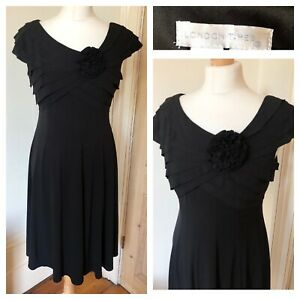 Ladies Little Black Dress Size 12 Uk, US 8 Stretchy Party Cocktail Evening Xmas