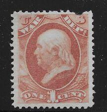 US Scott #O83, Single 1873 Official 1c FVF MH