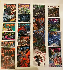 LOT OF 18 PITT #1-18 RUN +  IN THE BLOOD + CREW #1-2 IMAGE 1993 KEOWN
