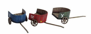Streets of Rome ROMAN CHARIOT SET OF 3 28mm Laser cut MDF scaleT048
