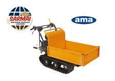 Motocarriola cingolata AMA portata 300kg cassone estendibile carriola