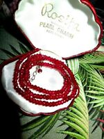 Beautiful 4mm faceted natural ruby necklace 18 inches