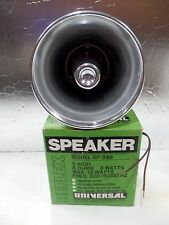 VINTAGE NOS REFLEX UNIVERSAL METAL SPEAKER, WARNING SIREN, SECURITY MODEL SP-999
