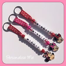 Personalised Minnie Mouse Bag Tag/Keyring