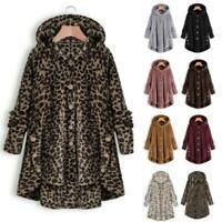 Women Winter Long Sleeve Fluffy Tail Tops Thicken Hoodie Warm Coat Jacket S-5XL