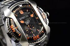Invicta Men's 48mm Akula Diver Sub Second Quartz Orange Black Bracelet SS Watch