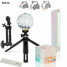 More details for photography lens trigonal prism & ball square crystal kit for light effect video