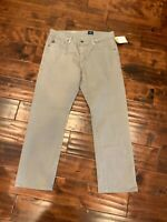 """AG Adriano Goldschmied """"The Graduate"""" Gray Tailored Leg Chino Pants, Size 32"""