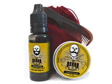 Limoncillo Fragancia Barba Grooming Kit-Bigote Cera, barba aceite, Peine & Bolsa