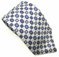 "Emanuel Ungaro Men's Tie Blue Grey White 100% Silk 3.75"" Width 58"" Length"