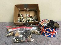 Huge Lot Of Antique & Vintage Buttons-Unsearched