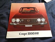 1972 Lancia Flavia 2000 HF Coupe large Prestige Color Brochure Prospekt