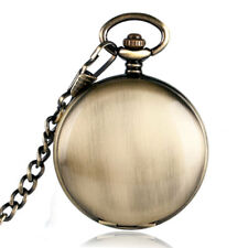 Smooth Bronze Roman Numerals Noctilucent Automatic Mechanical Pocket Watch Chain