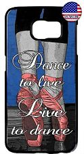 Ballet Ballerina Dancer Shoes Quote Case Cover Galaxy S5 S6 S7 Edge Note 4 5 7