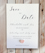 10 Save the Date Cards Wedding Personalised Handmade with Envelopes