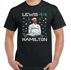LEWIS HAMILTON Christmas T-Shirt Mens Children's Boy's Girl's Tee Top Xmas