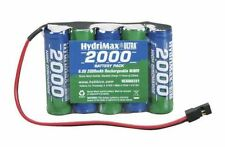 HYDRIMAX NIMH 5C 5 CELL 6V 2000MAH FLAT AA SIZE RECEIVER RX BATTERY HCAM6351 !!!