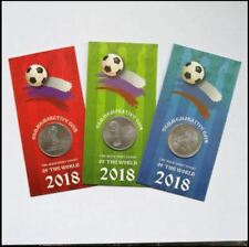 Russia 25 Rubles (3 Coin Full Set) 2018 FIFA Football World Cup In Folder