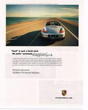 2004 PORSCHE Boxster White Advertisement
