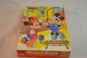Mickey & Minnie Mouse 100 Piece Jigsaw Puzzle Golden 4649-42 Complete