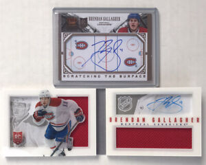 2013-14 PANINI RC PLAYBOOK BRENDAN GALLAGHER AUTO /199 + CROWN ROYALE RC AUTO