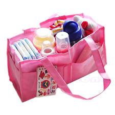 Outdoor Travel Portable Diaper Baby Nappy Divider Storage Organizer Bag Handbag
