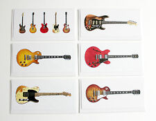 Famous Blues-Rock Guitars, Pack of 6 Greeting Cards, DL size