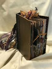 Handmade Hardcover Junk Journal Spooky Skulls Spider Haunted Halloween