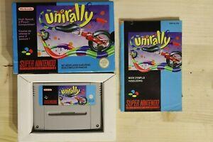 Unirally FAH sgZ/VGC/TBE OVP/CIB boxed Super Nintendo SNES