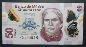 Mexico 50 pesos 2014 (Polymer) FDS/UNC  B-02